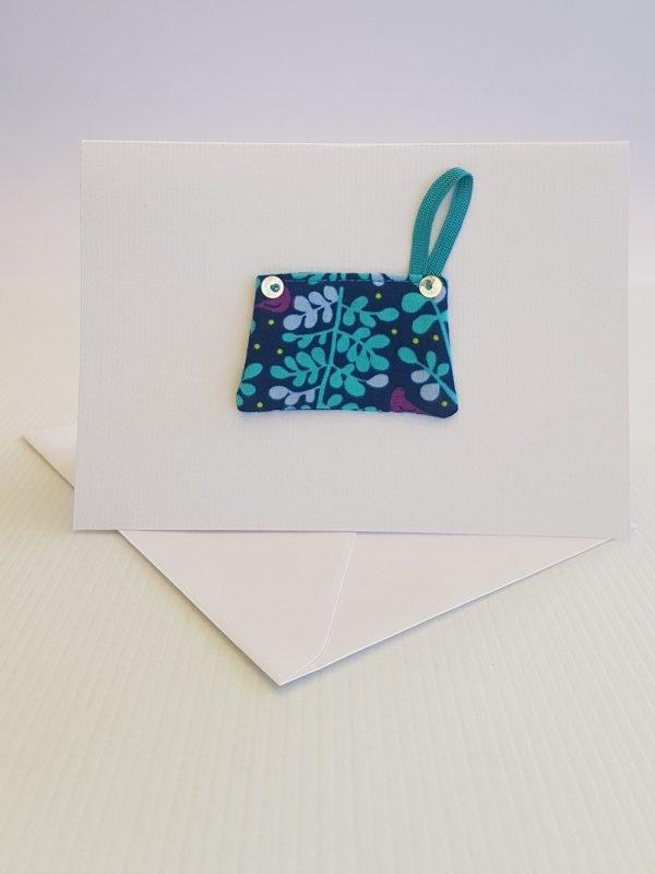 Aqua Ferns Handbag Card   ella & jaks   Handmade Designs for your Home