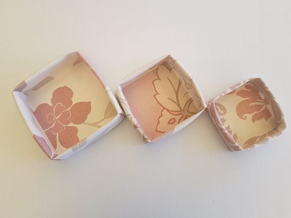 Dusty Pink Florals Set of 3 Fabric Boxes | ella & jaks | Handmade Designs for your Home