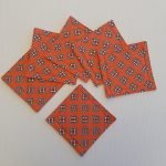Orange Knot Front | Coasters | ella & jaks