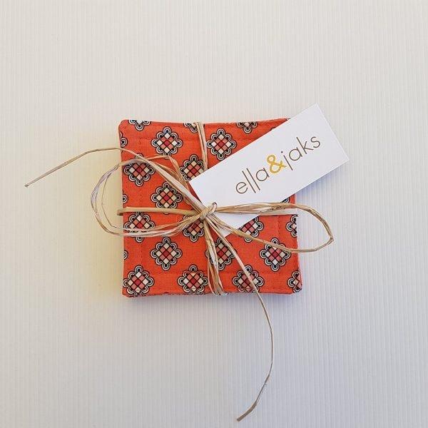 Orange Knot Set | Coasters | ella & jaks