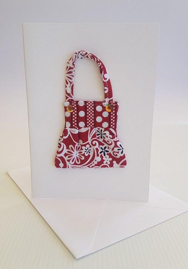 Red & White Delight Handbag Card | ella & jaks | Handmade Designs for your Home