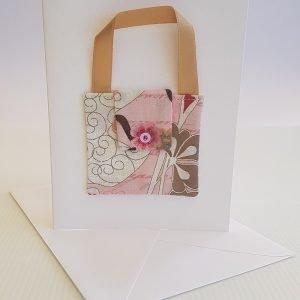Rosy Pink Handbag Card | ella & jaks | Handmade Designs for your Home