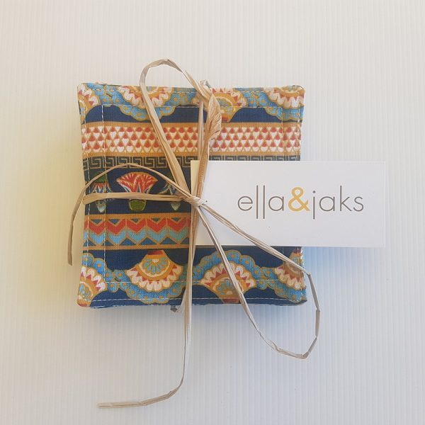 Tribal Blue Set | Coasters | ella & jaks