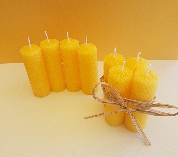 Half Pillar Rolled Beeswax Candles | ella & jaks | Australian Handmade Designs for your Home