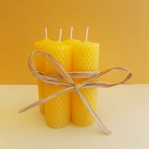 Half Pillar Rolled Beeswax Candles | ella & jaks | Australian Handmade Designs for your Home