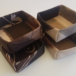 Chocolate Swirl Fabric Boxes | ella & jaks | Australian Handmade Homewares