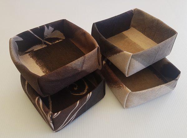 Chocolate Swirl Fabric Boxes | ella & jaks | Australian Handmade Homewares