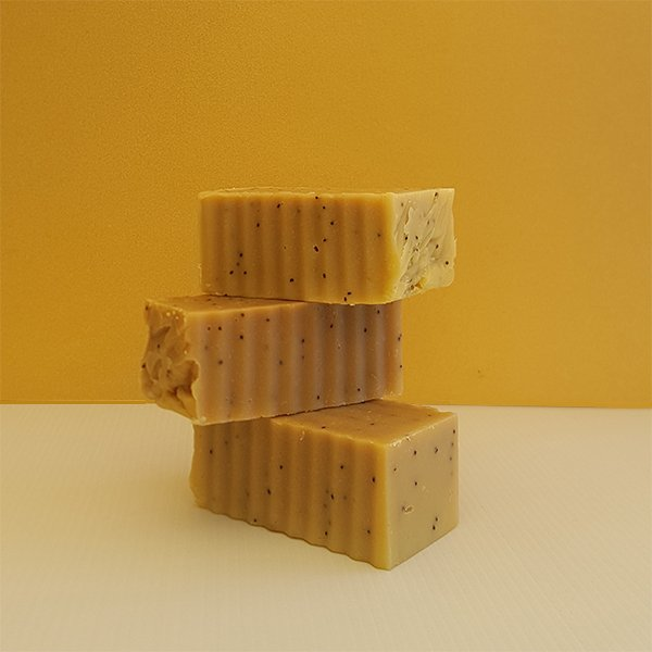 Orange & Poppyseed Cleansing Bar ella & jaks